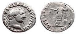 Ancient Coins - VITELLIUS AR Denarius. VF. LIBERTAS RESTITVTA. Very Scarce!