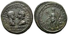 Ancient Coins - GORDIAN III and TRANQUILLINA AE30 (Pentassarion). EF-/VF+. Markianopolis mint. Nemesis.