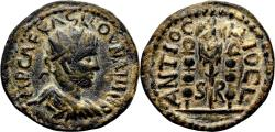 Ancient Coins - VOLUSIAN AE22. EF-. Antioch of Pisidia. Vexillum and Signa.