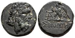 Ancient Coins - MITHRIDATES VI of PONTUS AE19. EF-. Sinope mint. Zeus - Eagle.