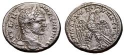 Ancient Coins - CARACALLA AR Tetradrachm. EF-/EF. Antioch mint. Eagle over Leg and Thigh. EXCELLENT COIN!