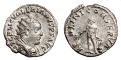Ancient Coins - VALERIAN I AR Antoninianus. EF-/VF+. APOLINI CONSERVA. Scarce Reverse.