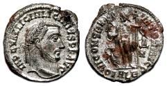 Ancient Coins - LICINIUS I AE Follis. EF+/EF. SILVERED. Alexandria mint. IOVI CONSERVATORI AVGG.