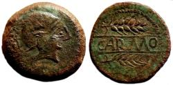 Ancient Coins - ROMAN-CELTIC AE As. VF+/EF. Two Grains. Large size: 32 mm. VERY NICE!