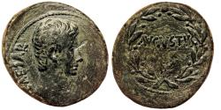 Ancient Coins - ANTIOCH (Syria) AE26. Augustus. EF-. AVGVSTVS - Wreath.