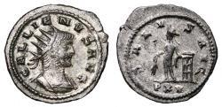 Ancient Coins - GALLIENUS Bi Antoninianus. VF+. SILVERED. Antioch mint. SALVS AVG - PXV
