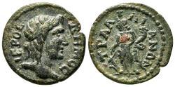Ancient Coins - TRALLES (Lydia) AE20. Pseudo-autonomous issue. EF-. Demos.