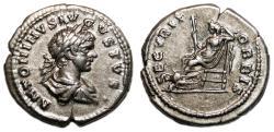 Ancient Coins - CARACALLA AR Denarius. EF. Laodicea mint. SECVRIT ORBIS.