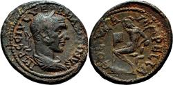 Ancient Coins - PELLA (Macedon) AE27. Maximinus Thrax. EF-. Pan in reverse.