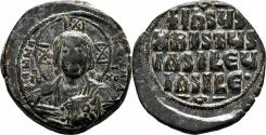Ancient Coins - Anonymous Byzantine Follis. Basil II & Constantine VIII. AD 976-1028. VF+/EF-. Constantinople.