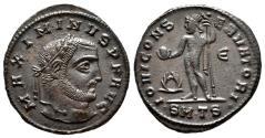 Ancient Coins - MAXIMINUS II DAIA AE Follis. EF/EF-. Thessalonica mint. IOVI CONSERVATORI.