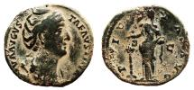Ancient Coins - FAUSTINA I (Senior) AE As. VF. PIETAS AVG