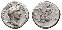 Ancient Coins - ANTONINUS PIUS AR Denarius. VF+. ITALIA. Scarce!