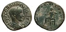 Ancient Coins - GORDIAN III AE Sestertius. VF+/VF. Apollo - P M TR P IIII COS II P P. Nice!