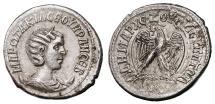 Ancient Coins - OTACILIA SEVERA AR Tetradrachm. EF/EF-. First Consulship. Eagle to left. SCARCE and SUPERB!
