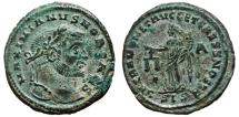 Ancient Coins - GALERIUS MAXIMIANUS Bi Follis. EF-/EF. Siscia mint. SACRA MONETA. Partially SILVERED.