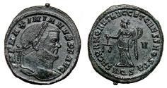 Ancient Coins - MAXIMIAN HERCULIUS AE Follis. EF+. Aquileia mint. SACR MONET AVGG ET CAESS NOSTR