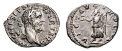 Ancient Coins - SEPTIMIUS SEVERUS AR Denarius. EF-. Very early issue (AD 193). VICT AVG TR P COS.