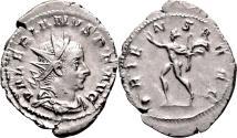 Ancient Coins - VALERIAN I AR Antoninianus. EF. Lugdunum mint. ORIENS AVGG.