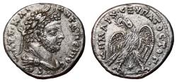 Ancient Coins - CARACALLA AR Tetradrachm. EF. Laodicea ad Mare mint. Eagle to left - Star.