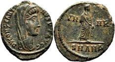 Ancient Coins - CONSTANTINE I AE3 (Centenonial). EF+. Posthumous issue. Antioch mint. VN MR.