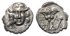 Ancient Coins - MYLASA (Caria) AR Drachm. EF. Pseudo-Rhodes issue. SCARCE!