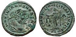 Ancient Coins - GALERIUS MAXIMIANUS Bi Follis. EF-/EF. Siscia mint. SACRA MONETA. Partially SILVERED.