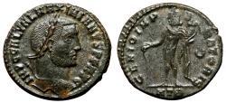 Ancient Coins - GALERIUS MAXIMIANUS AE Follis. EF-. Heraclea mint. GENIO IMPERATORIS.