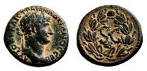 Ancient Coins - HADRIAN AE20. EF/EF+. Antioch mint. Wreath - SC.