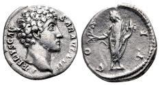 Ancient Coins - MARCUS AURELIUS AR Denarius. VF+. HONOS.