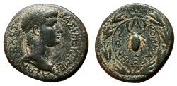Ancient Coins - Kings of Commagene. ANTIOCHOS IV Epiphanes AE26. VF+. Scorpion.