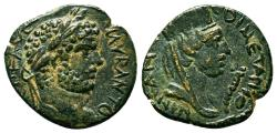 Ancient Coins - CARRHAE (Mesopotamia) AE19. EF/EF-. Caracalla. Tyche in reverse.