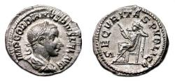 Ancient Coins - GORDIAN III AR Denarius. EF+. SECVRITAS PVBLICA.