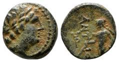 Ancient Coins - ANTIOCHOS AE10. EF/EF-. Antiochos - Apollon.