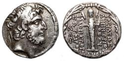 Ancient Coins - DEMETRIOS III EUKAIROS AR Tetradrachm. EF-/VF+. Damaskos mint. 89/8 BC. Atargatis.