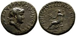 Ancient Coins - ICONION (Lycaonia) AE25. Nero and Poppaea. VF+/VF. Nice and Scarce.