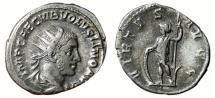 Ancient Coins - VOLUSIAN AR Antoninianus. VF+/VF. VIRTVS AVGG