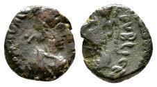 Ancient Coins - VALENTINIAN III AE4 (Nummus). VF-. SALVS REI PVBLICE. Scarce!