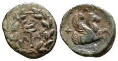 Ancient Coins - LAMPSAKOS (Mysia) AE11. VF+. Kerykeion - Pegasos.