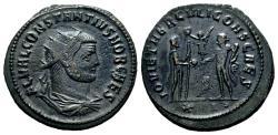 Ancient Coins - CONSTANTIUS I CHLORUS Bi Antoninianus. EF-. Pre-Reform Issue. SCARCE!