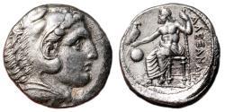 Ancient Coins - ALEXANDER III the Great AR Tetradrachm. EF-. Amphipolis mint. LIFETIME ISSUE.