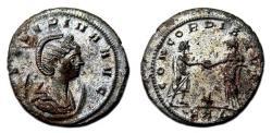 Ancient Coins - SEVERINA Bi Antoninian. EF-. SILVERED. Serdica mint. CONCORDIA AVGG.