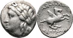 Ancient Coins - ALABANDA (Caria) Drachm. VF. Apollo - Pegasos. Magistrate Timokles. RARE.