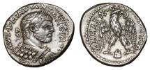 Ancient Coins - CARACALLA AR Tetradrach. EF-/VF+. Edessa mint. Cuirassed bust. VERY SCARCE!