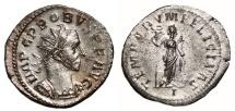 Ancient Coins - PROBUS Bi Antoninianus. EF/VF+. SILVERED. Lugdunum mint. TEMPORVM FELICITAS.