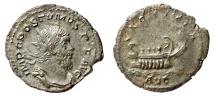 Ancient Coins - POSTUMUS AR Antoninianus. EF-/VF+. LAETITIA AVG - Galley. Treveri mint.