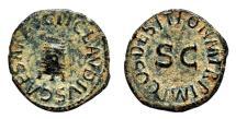Ancient Coins - CLAUDIUS AE Quadrans. EF-/EF. Modius - PON M TR P IMP COS DES IT SC.