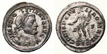 Ancient Coins - DIOCLETIAN Bi Follis. EF-. SILVERED. Treveri mint. GENIO POPVLI ROMANI