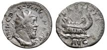 Ancient Coins - POSTUMUS AR Antoninianus. VF+. LAETITIA AVG - Galley. Treveri mint. SCARCE!