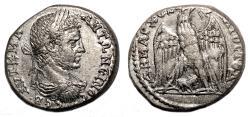 Ancient Coins - CARACALLA AR Tetradrachm. Hierapolis (Cyrrhestica). EF. Lion below eagle.